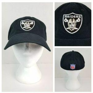 Oakland Raiders NFL Reebok L Black Fitted Ball Cap